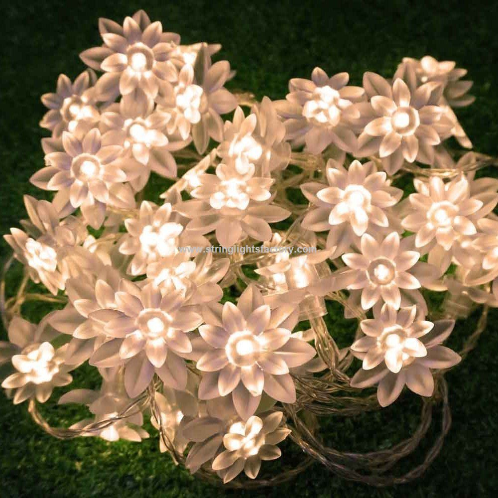 Promotional Led String Lights 4m13feet 40 Led Lotus Flower Timer