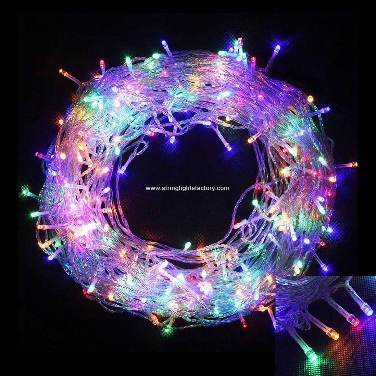 multiple color battery operated waterproof ip54 33 feet 100 led fairy string lights 8 modes