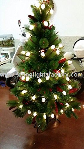 Promotional Outdoor Pine Cone Christmas Tree Lights 8 Mode