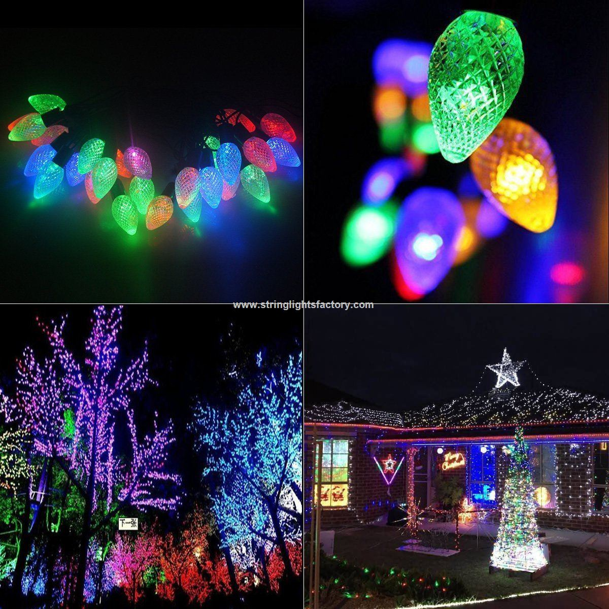 professional led string light factory 75ft 20leds xmas strawberry strand lights