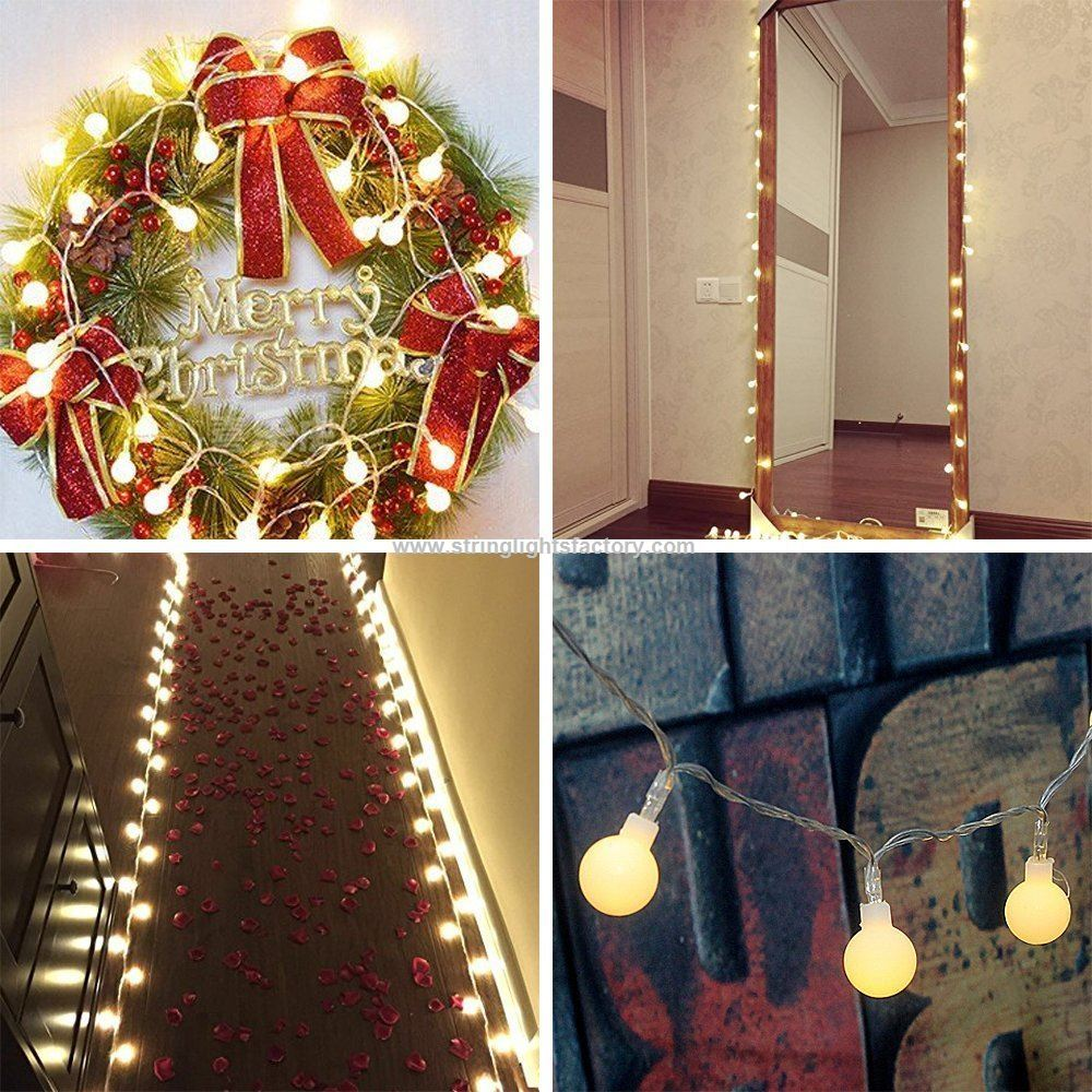 decorative holiday globe string light 16ft strand light warm white color globe lights