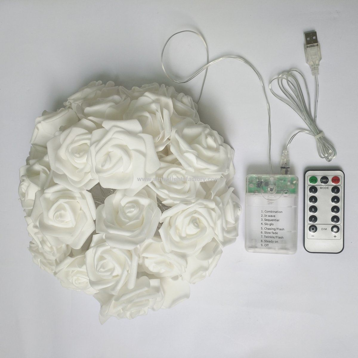 Promotional usb battery operated warm white 15 ft 30 led rose flower usb battery operated warm white 15 ft 30 led rose flower string lights mightylinksfo