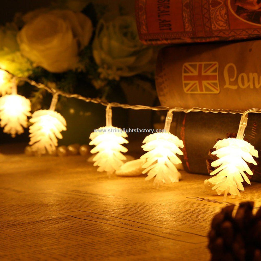 pine cone string pine cone christmas tree lights 148ft fairy string lgihts