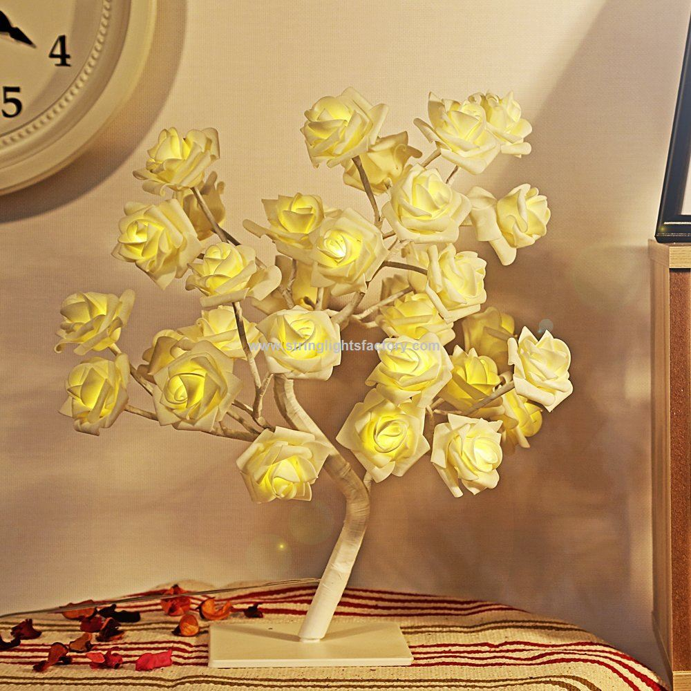 Promotional Decorative Roses Or Table Lamp Roses String Lights 165