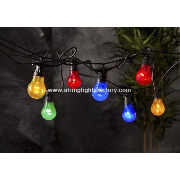 holiday string light multi color light bulb fairy lights dc12v 10leds bulb lights