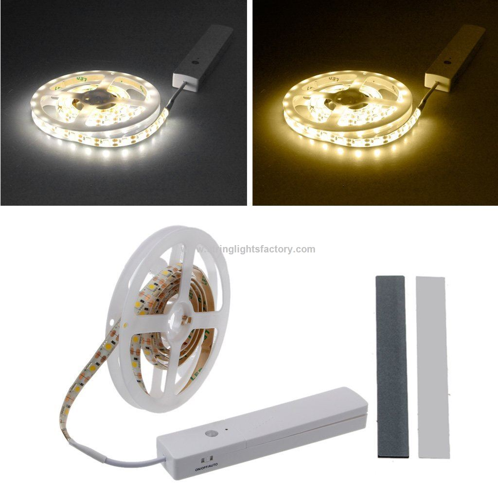 Battery Operated Led Strip Lights With Motion Sensor Wardrobe Light Closet  Light