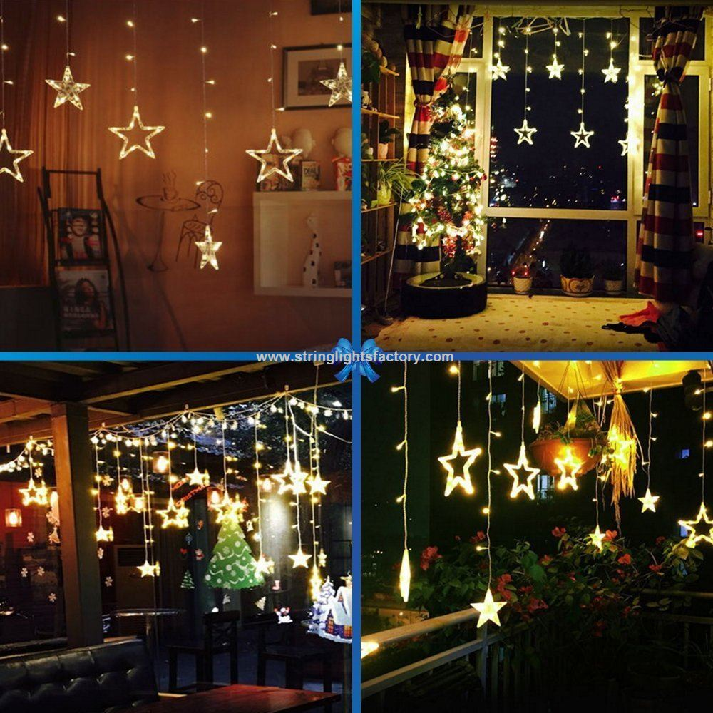 holiday home decors 138 warm white leds fairy lights battery operated curtain light