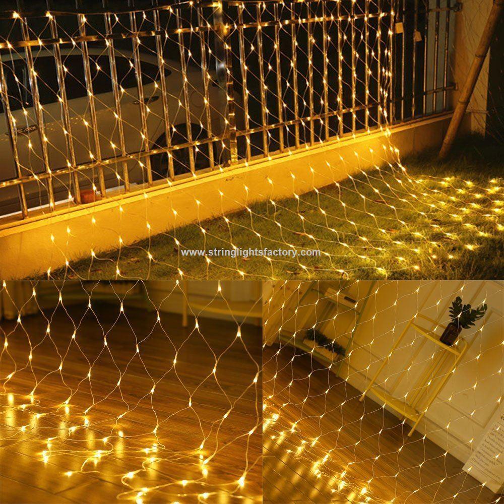 Promotional LED Mesh Net Lights 200LEDs Fairy Light String Warm ...